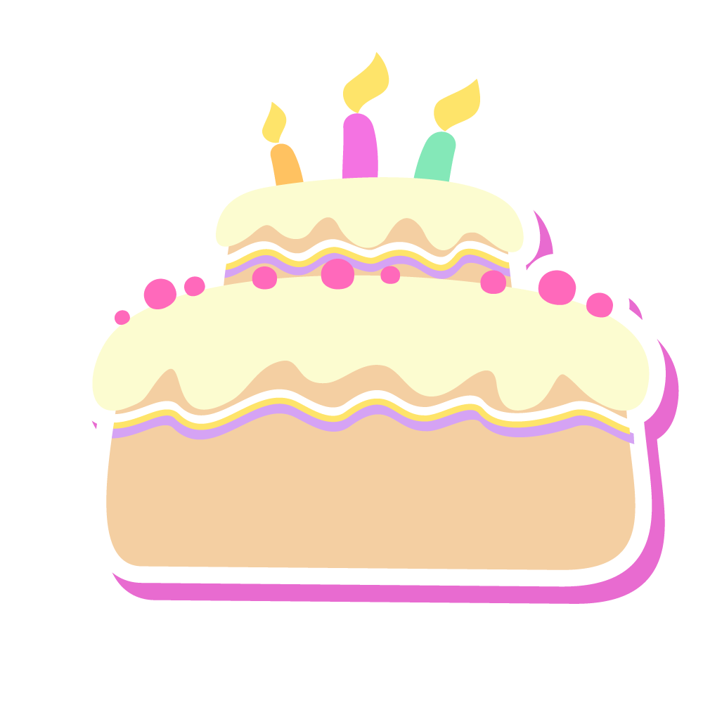 Clipart cake tart. Birthday drawing cartoon
