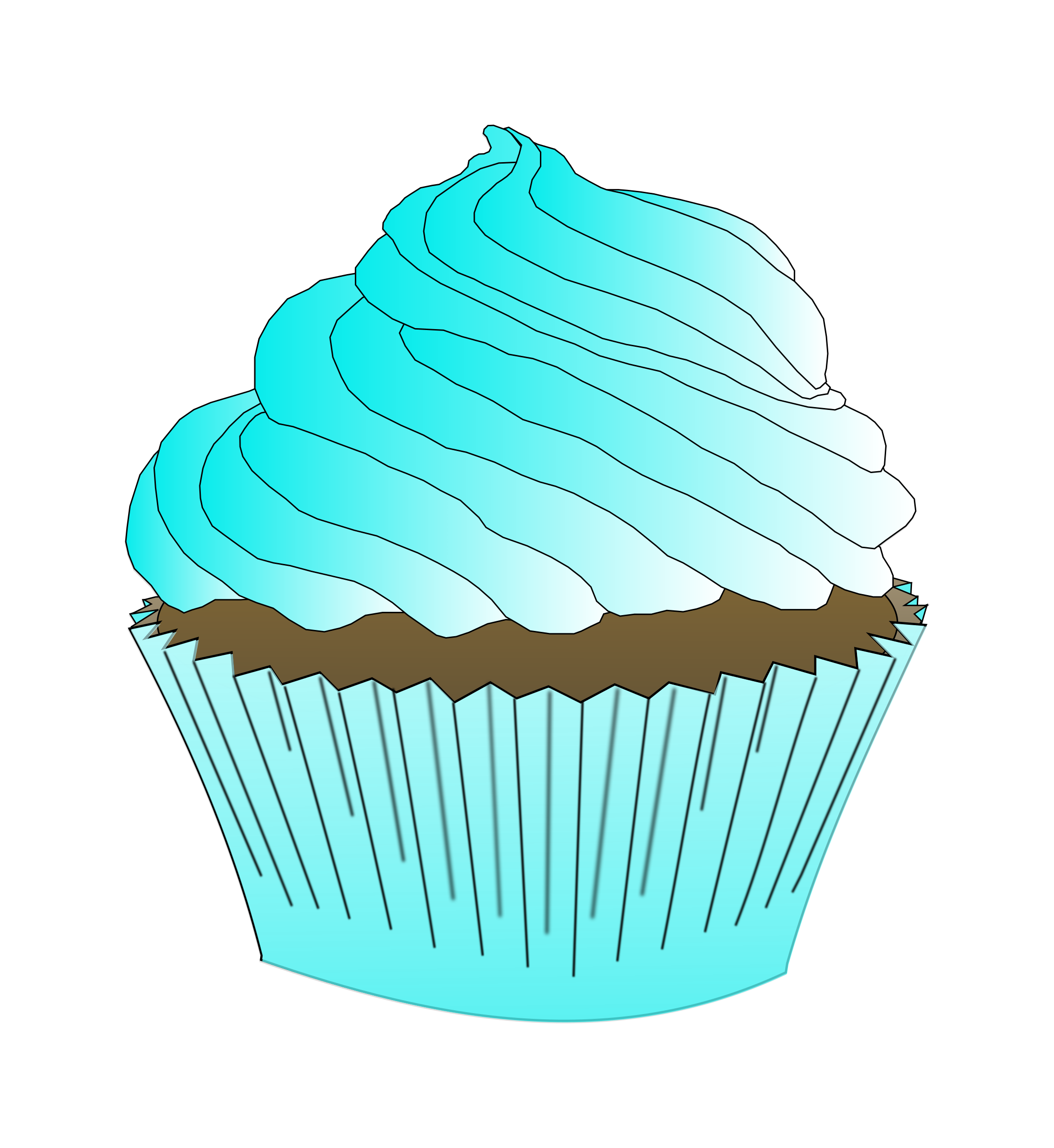 Muffin clipart svg. Chocolate teal cupcake big