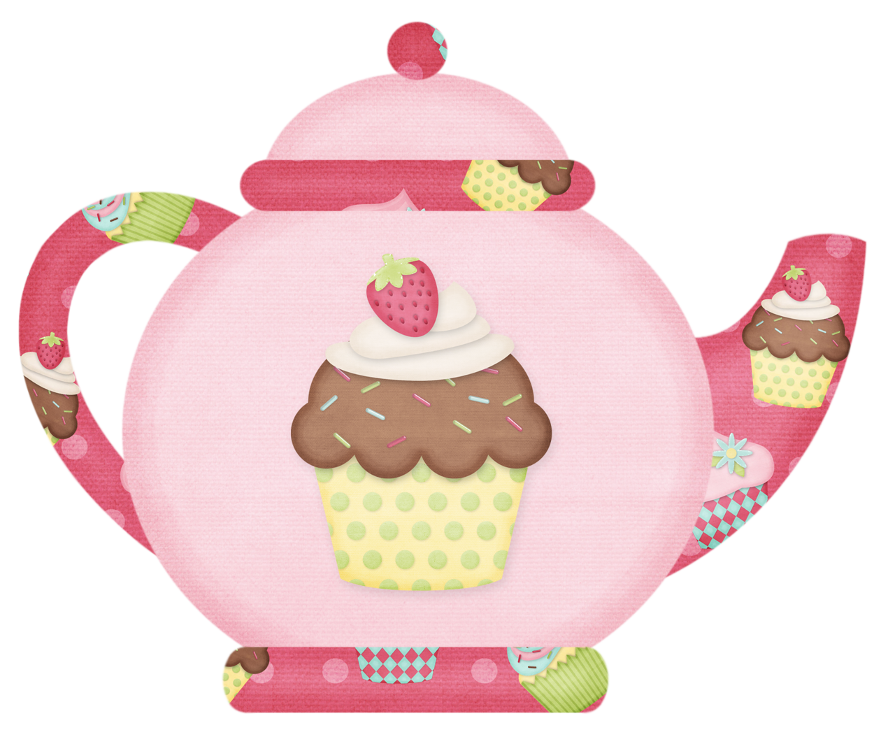Clipart cake teapot. Have tea whith me