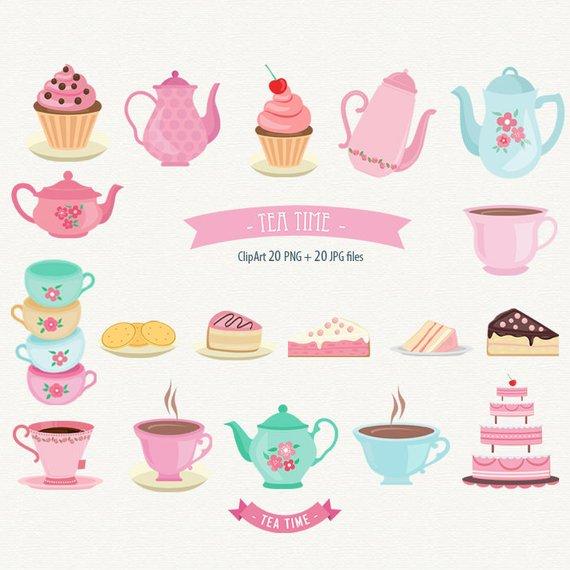 Time clip art cake. Dessert clipart tea party