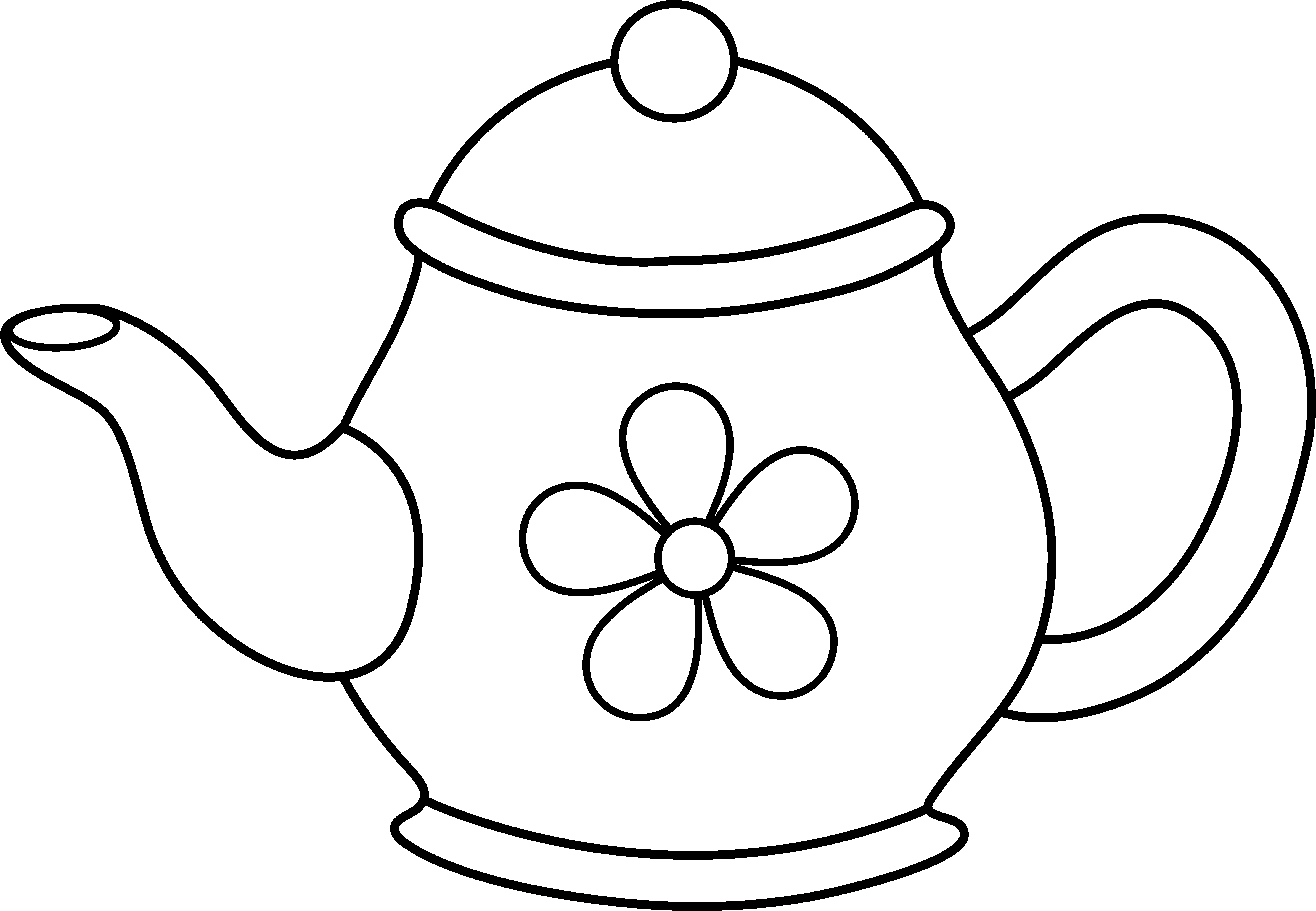Clip art images panda. Cups clipart teapot