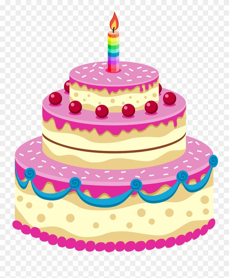 Desserts clipart transparent background. Dessert birthday cake
