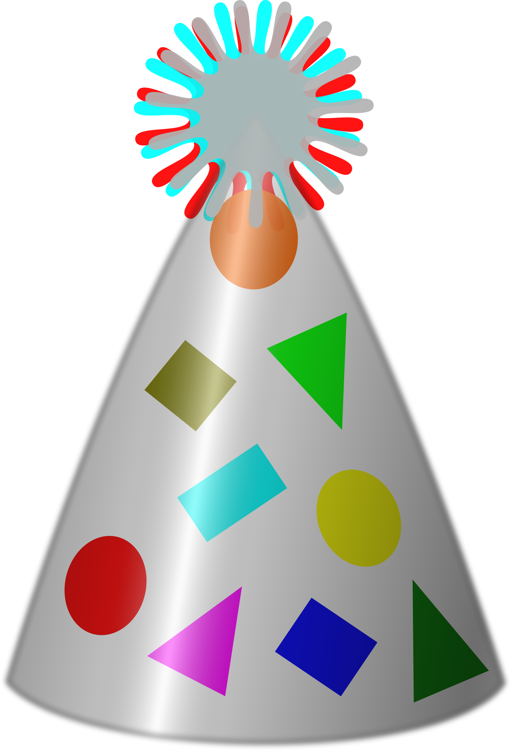 Party hat big image. Clipart cake tree