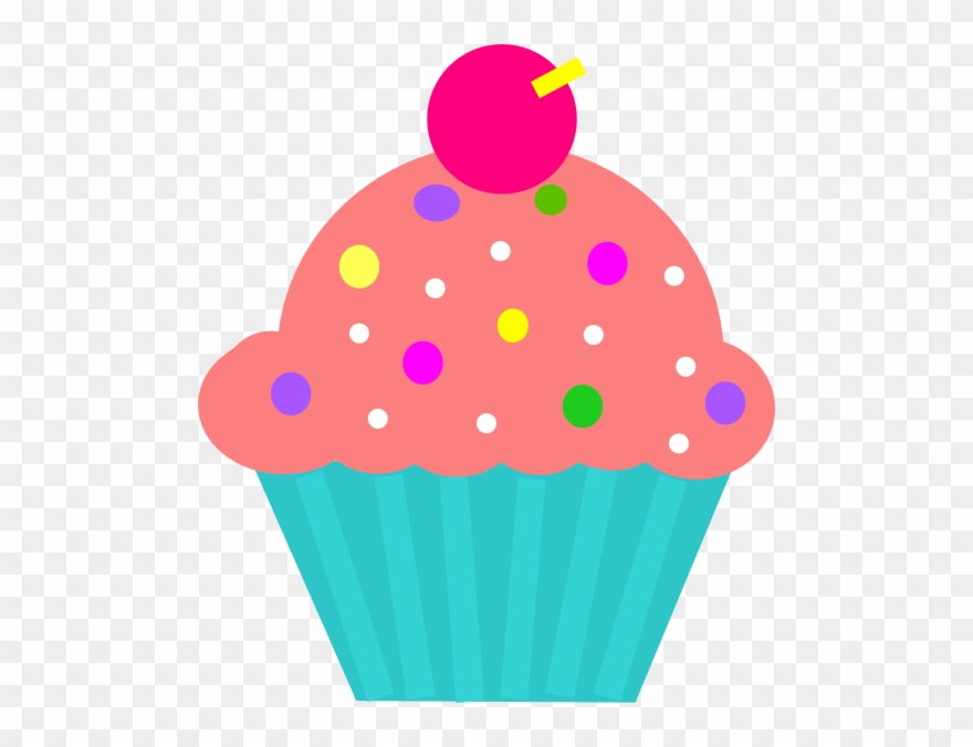 Clipart cake turquoise. Cupcake coral clip art