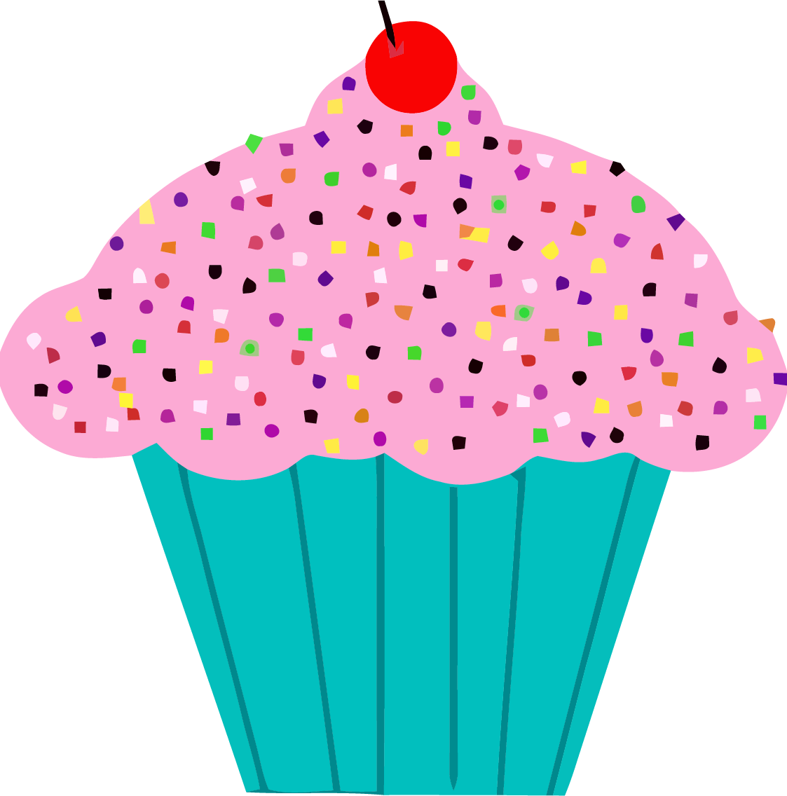 Pink and green encode. Clipart cupcake witch