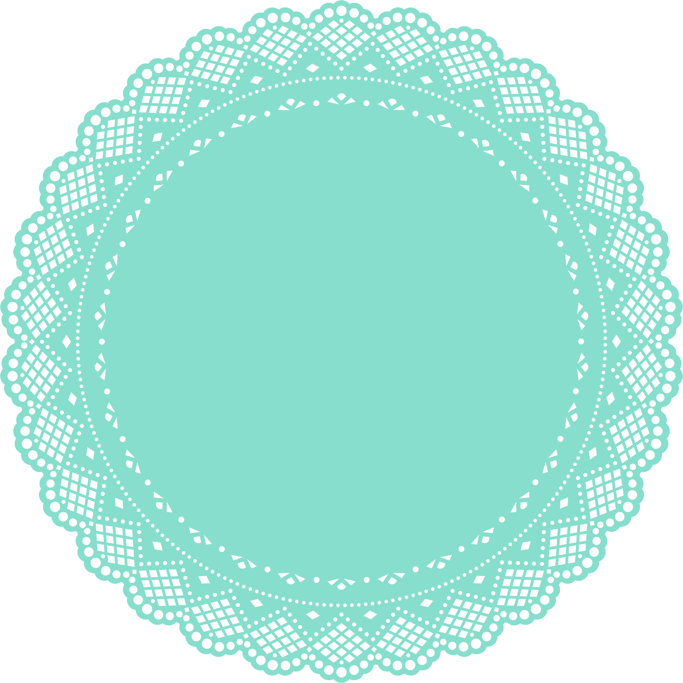 Doily big image png. Clipart cake turquoise