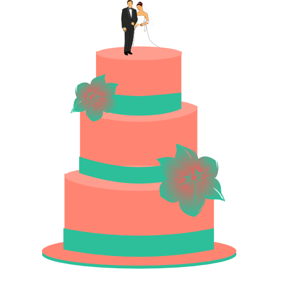Clipart cake turquoise. Wedding clip art at