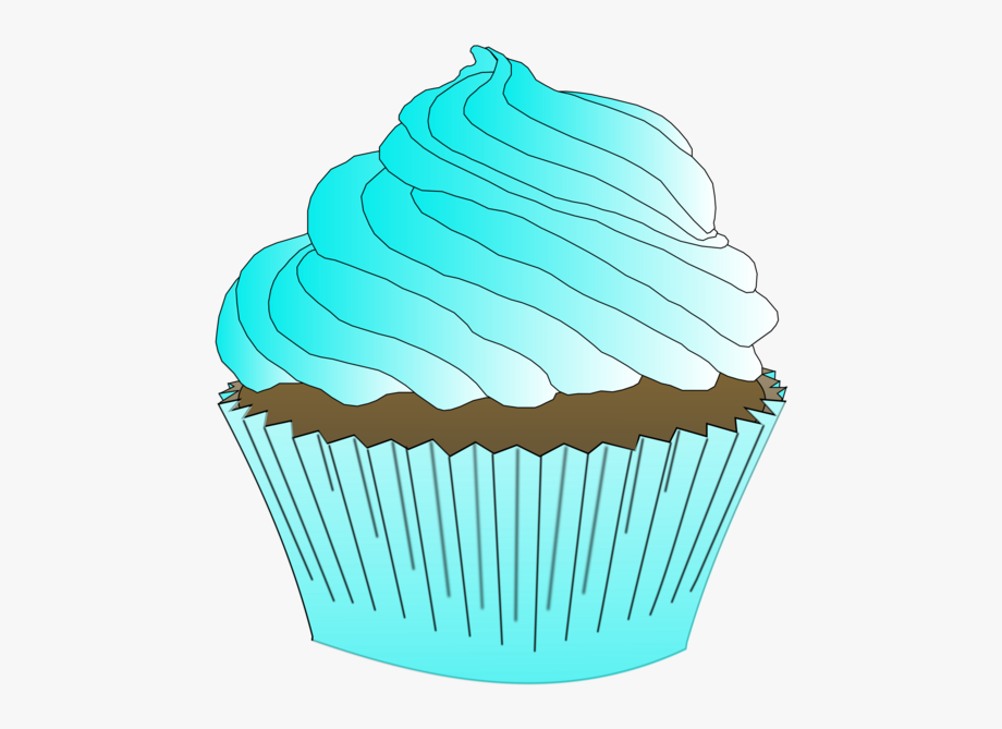 Clipart cake turquoise. Cupcake buttercream frosting icing