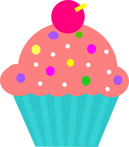 Cake turquoise coral amp. Galaxy clipart cupcake