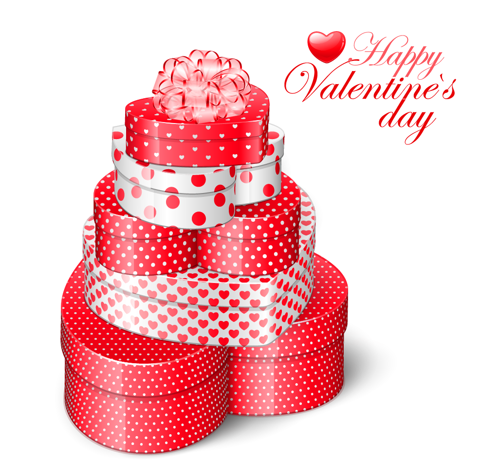 Clipart present valentine. Valentines heart gift boxes