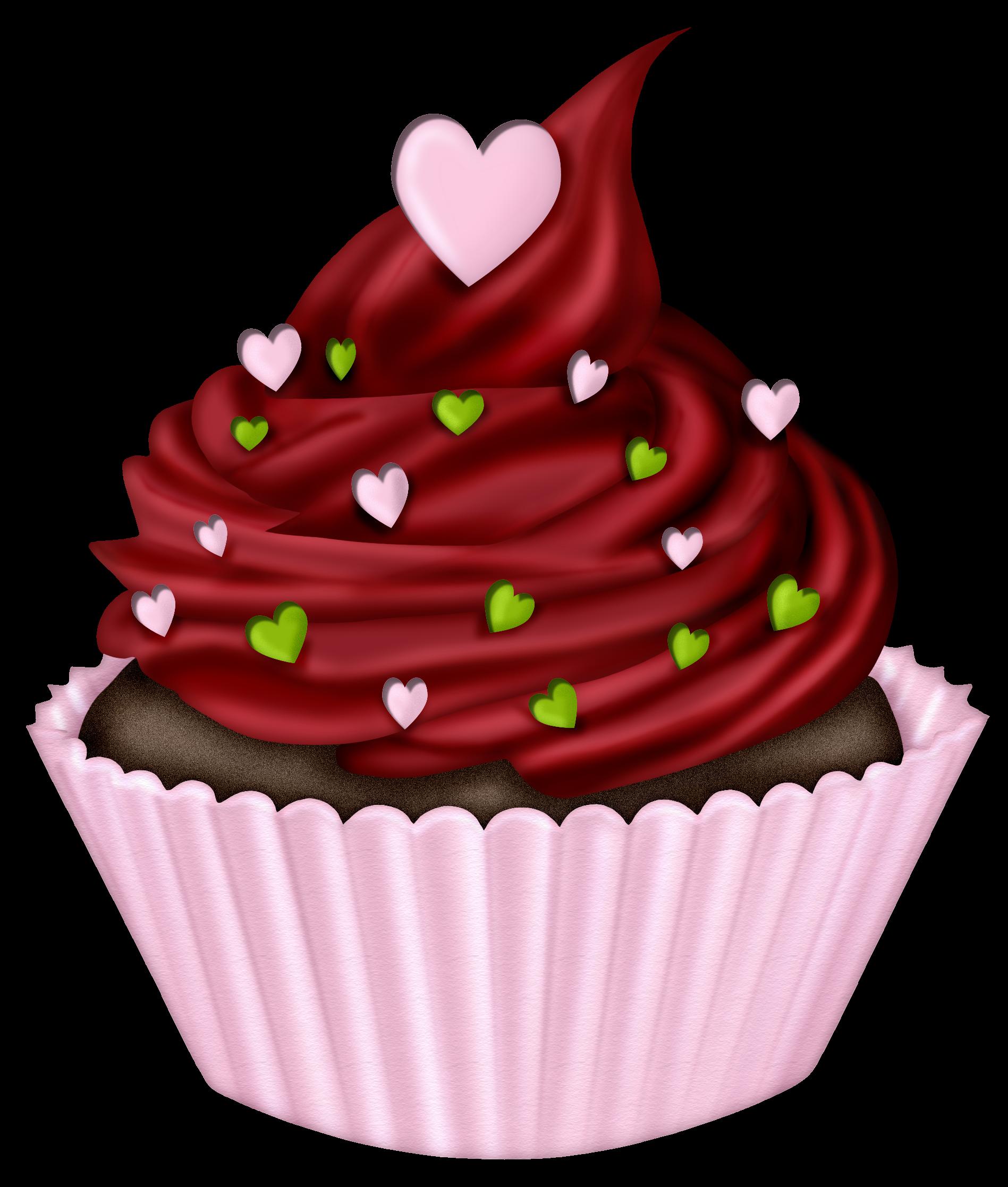 cupcakes digi s. Clipart cake valentines