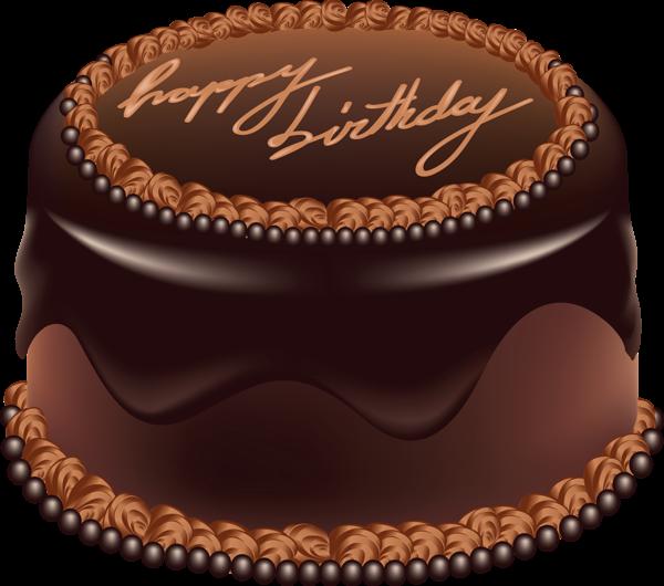 Chocolate cake happy birthday. Desserts clipart fancy dessert