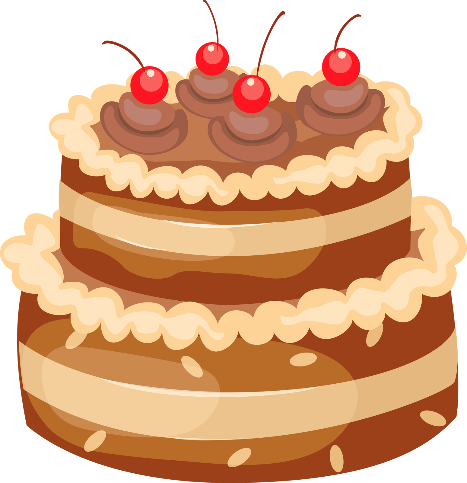 Happy birthday wishes greetings. Clipart cake victorian