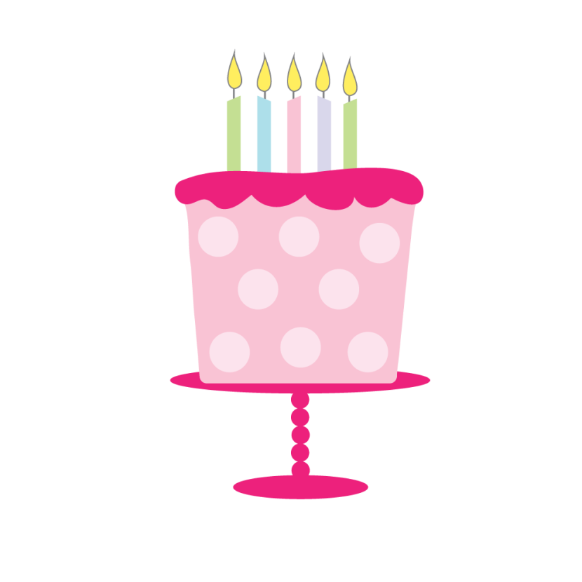 collection of girl. Clipart cake whimsical