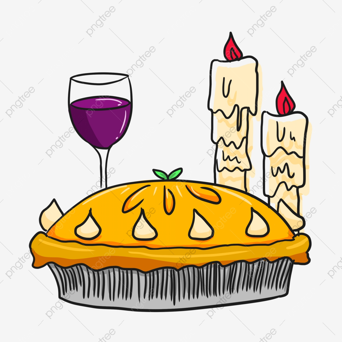 Clipart cake wine. Thanksgiving food send red