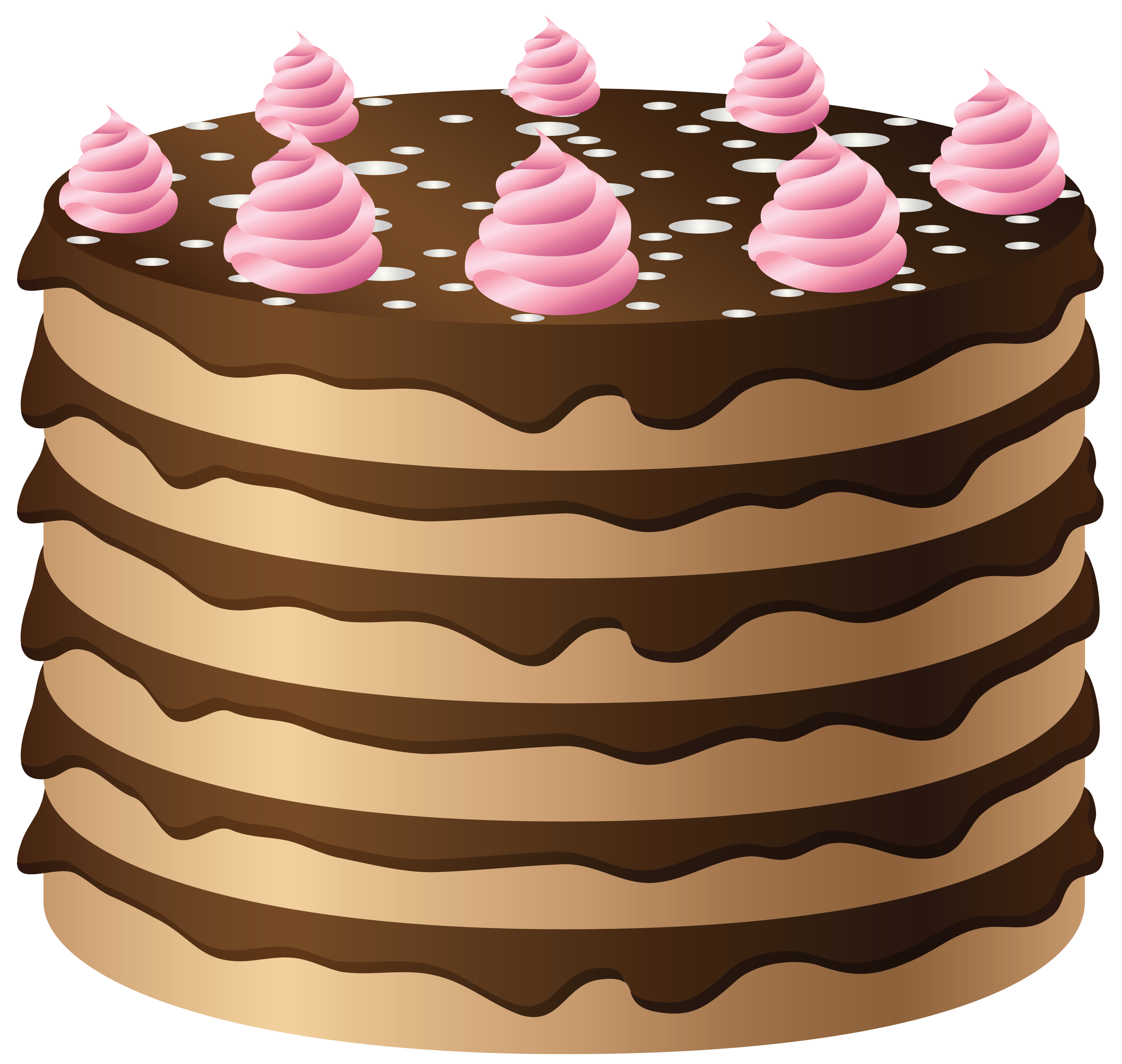 France clipart pastery. Chocolate cake with pink
