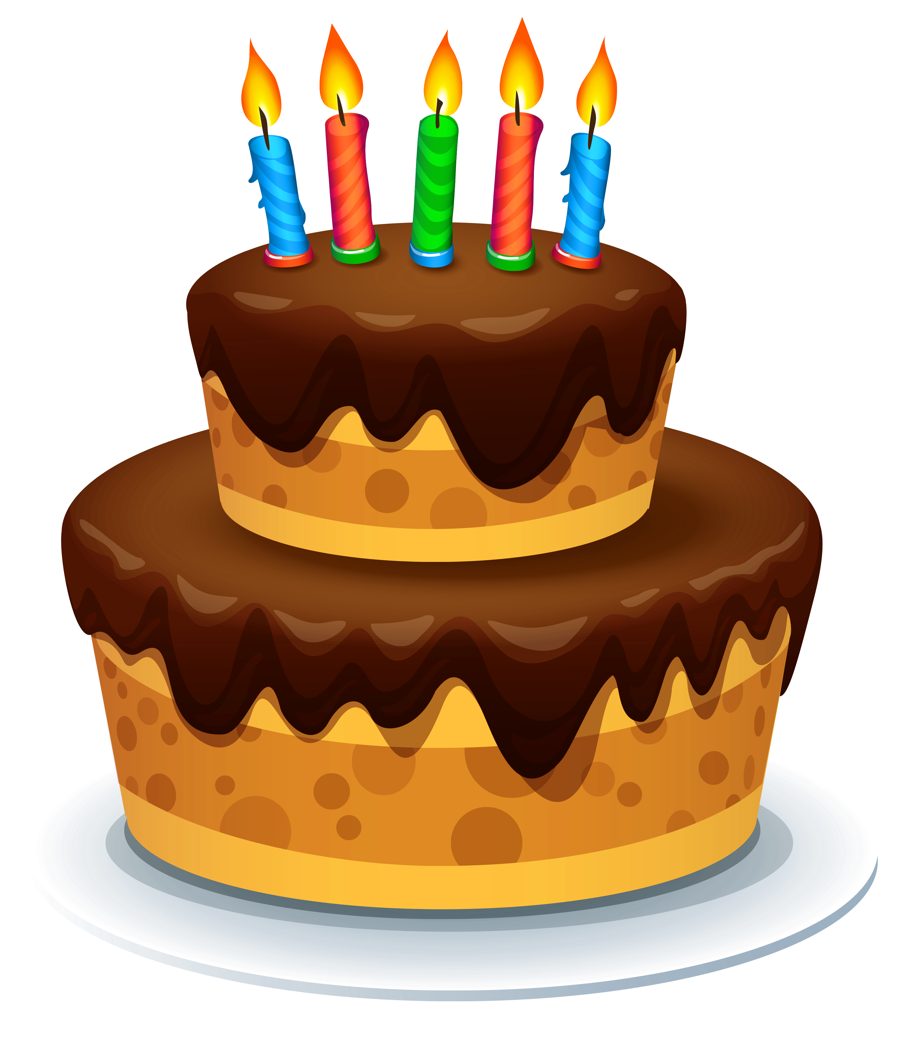 With candles png image. Clipart cake