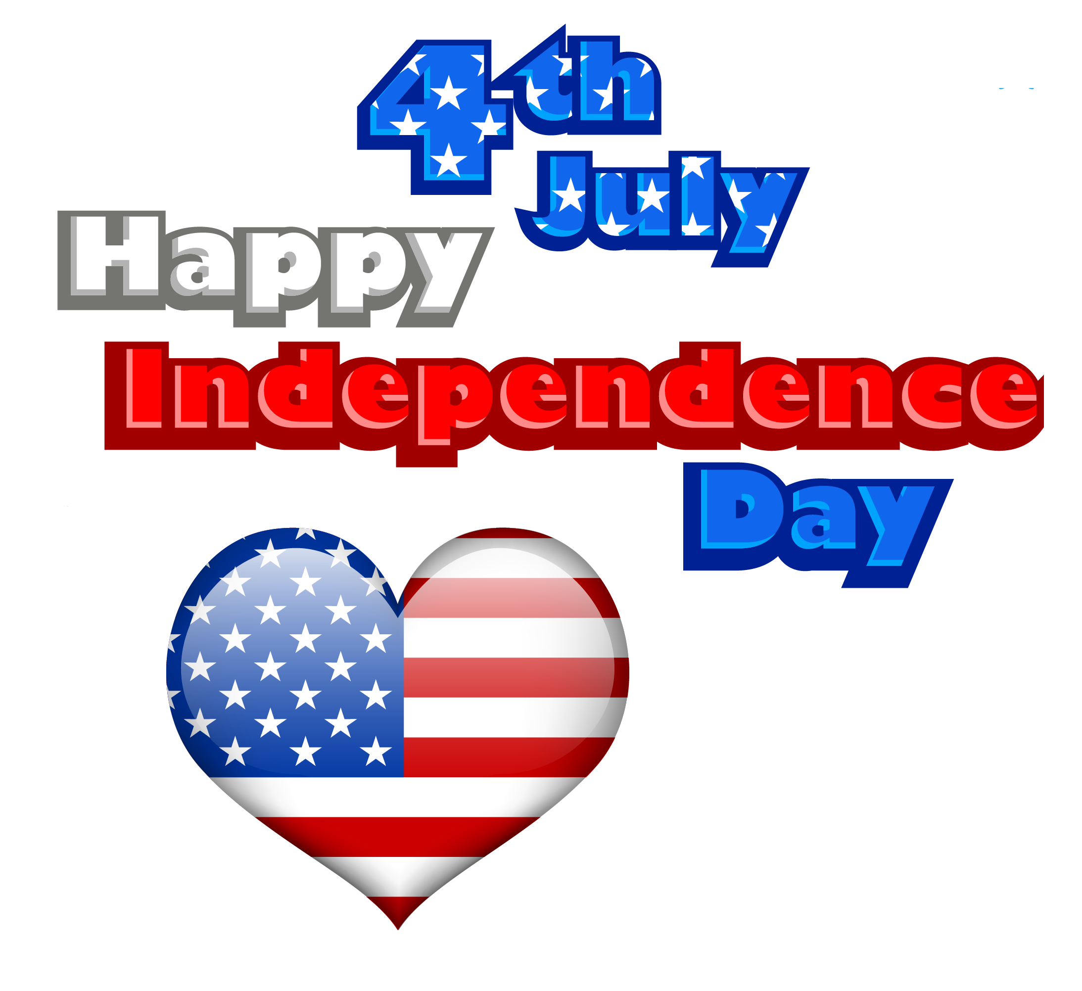 Happy independance day with. Ice clipart 4th july