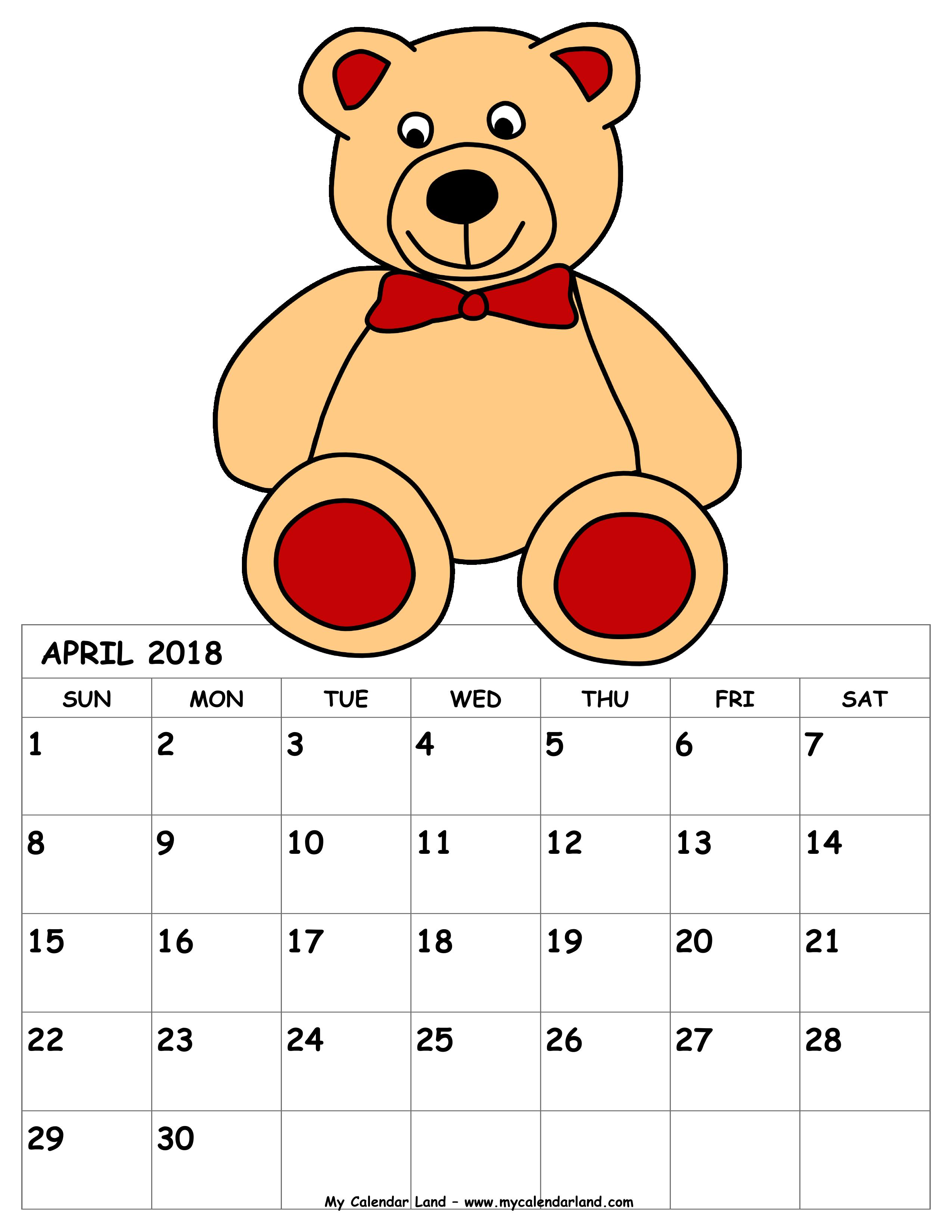 Clipart calendar april 28th. My land blank printable
