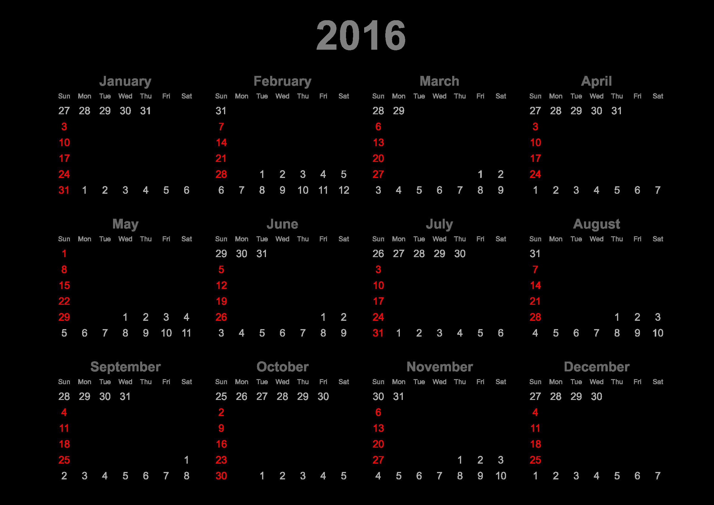 Calendar big image png. December clipart december 2016
