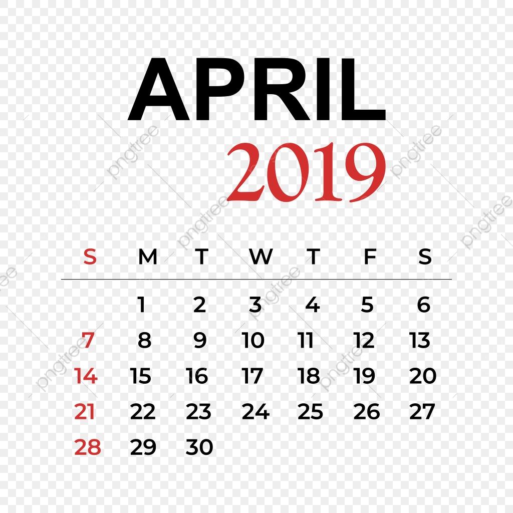 Clipart calendar april 28th.  month year week