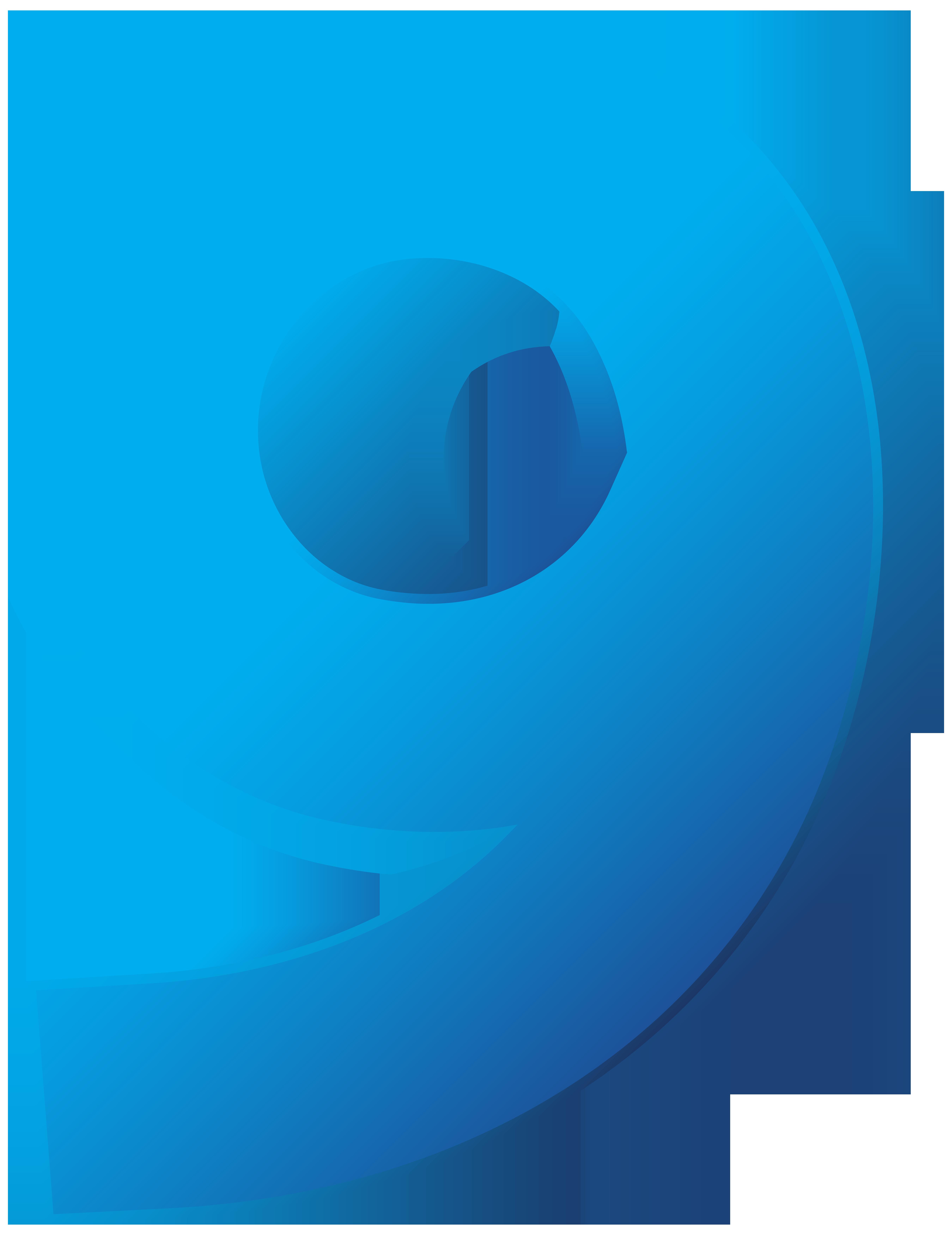 Blue number transparent png. Emotions clipart nine