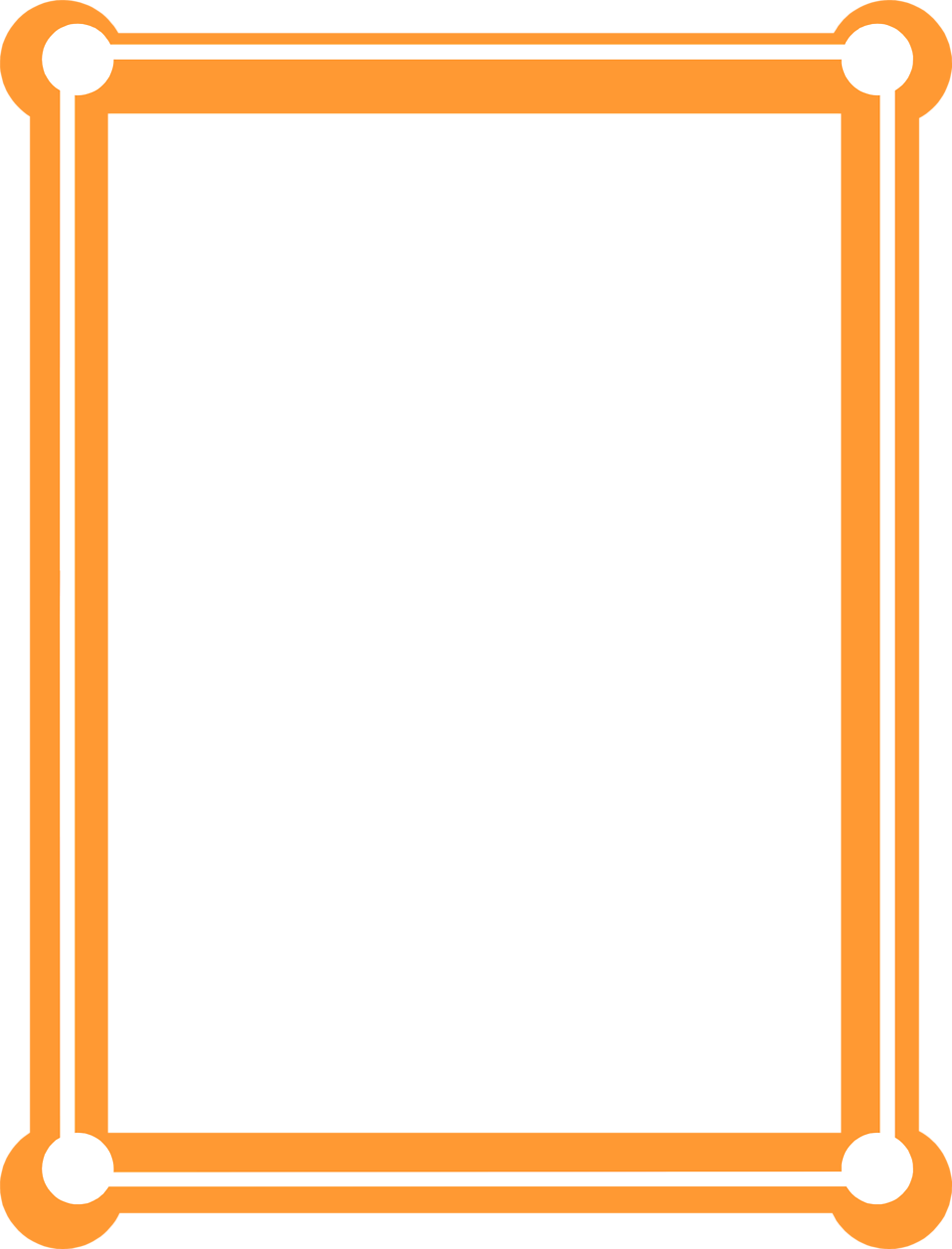 Border orange free stock. Clipart car borders