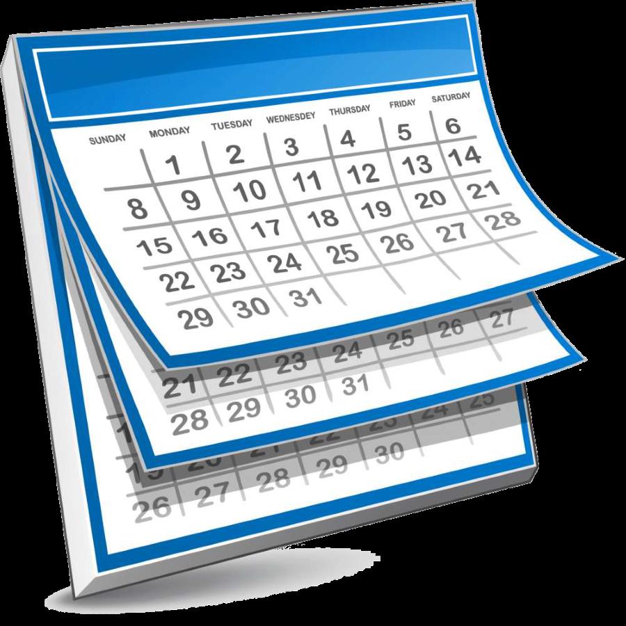 schedule clipart calendar page #141769496