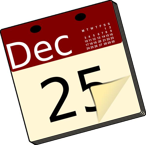 Clipart calendar christmas. Clip art for fun