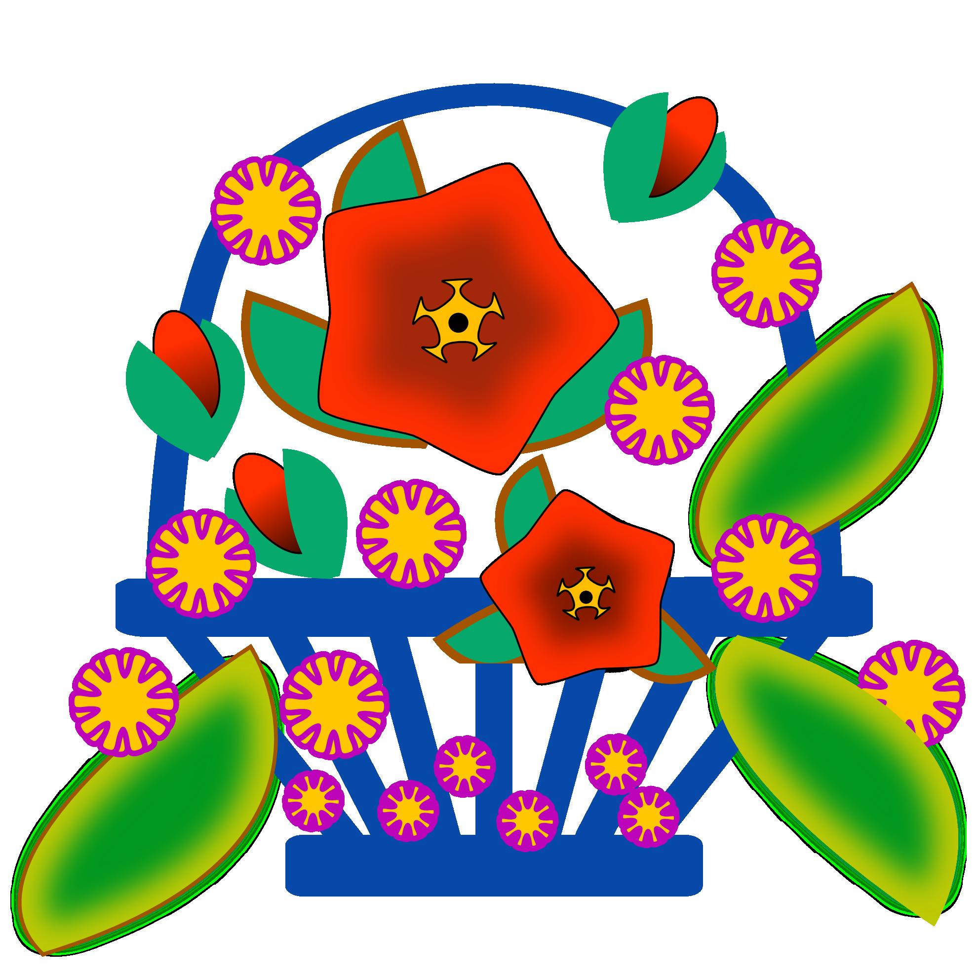 Decoration clipart cute. September design flower free