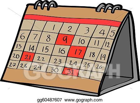 Clipart calendar desk calendar. Clip art vector desktop