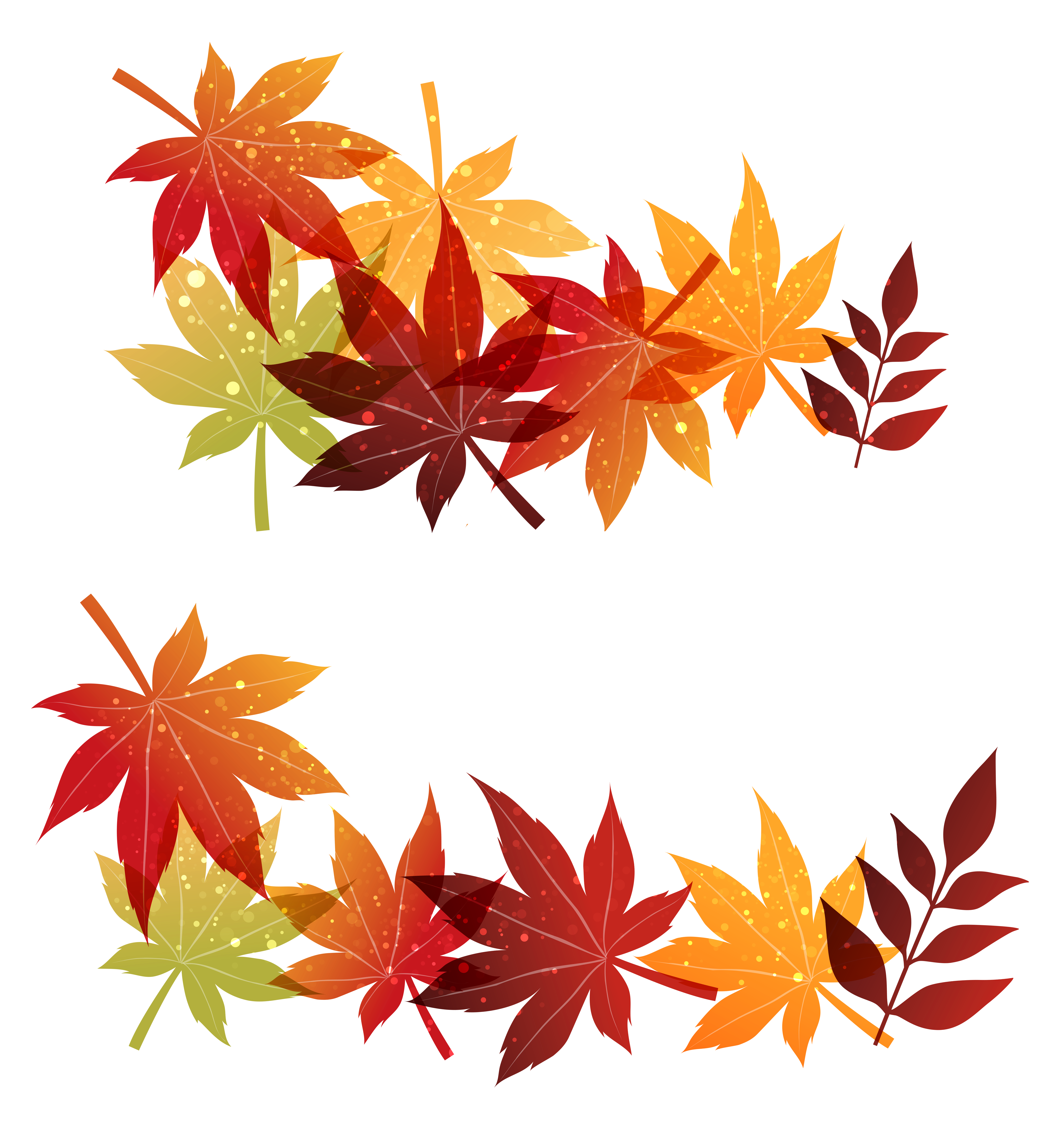 Clipart leaves decoration. Fall png image gallery