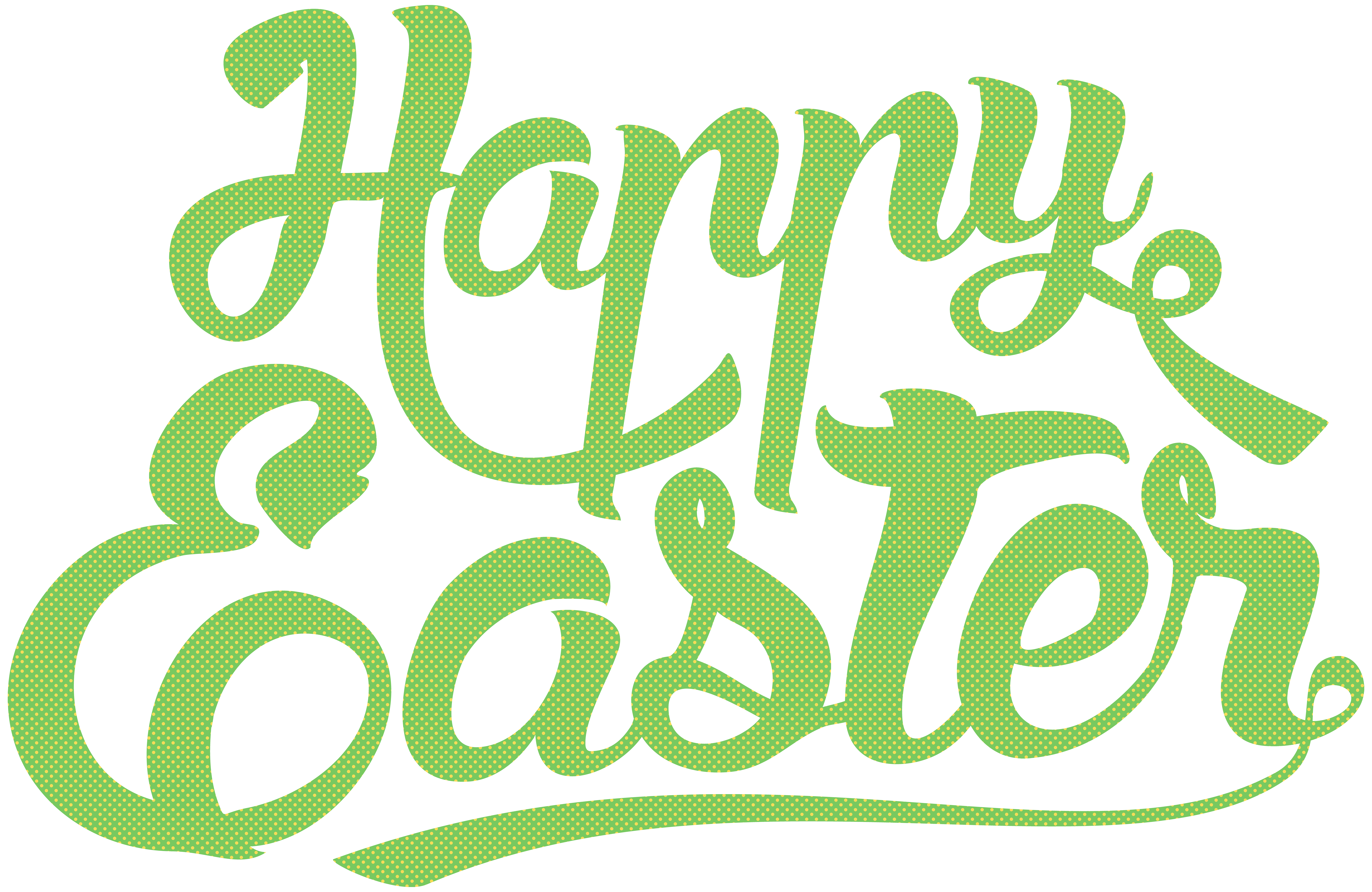 Clipart happy text. Easter green png clip