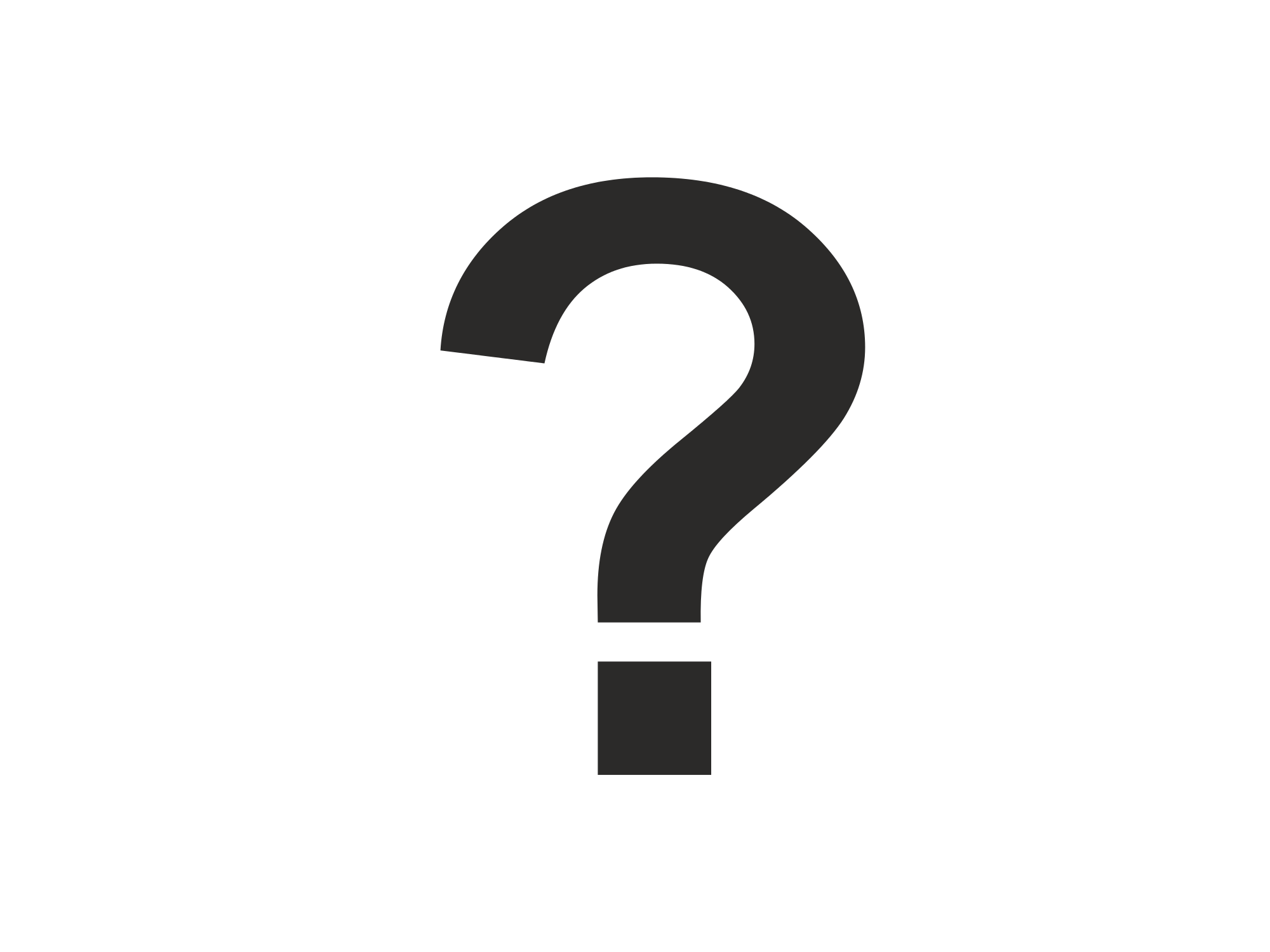 Picture of a question. Clipart calendar mark