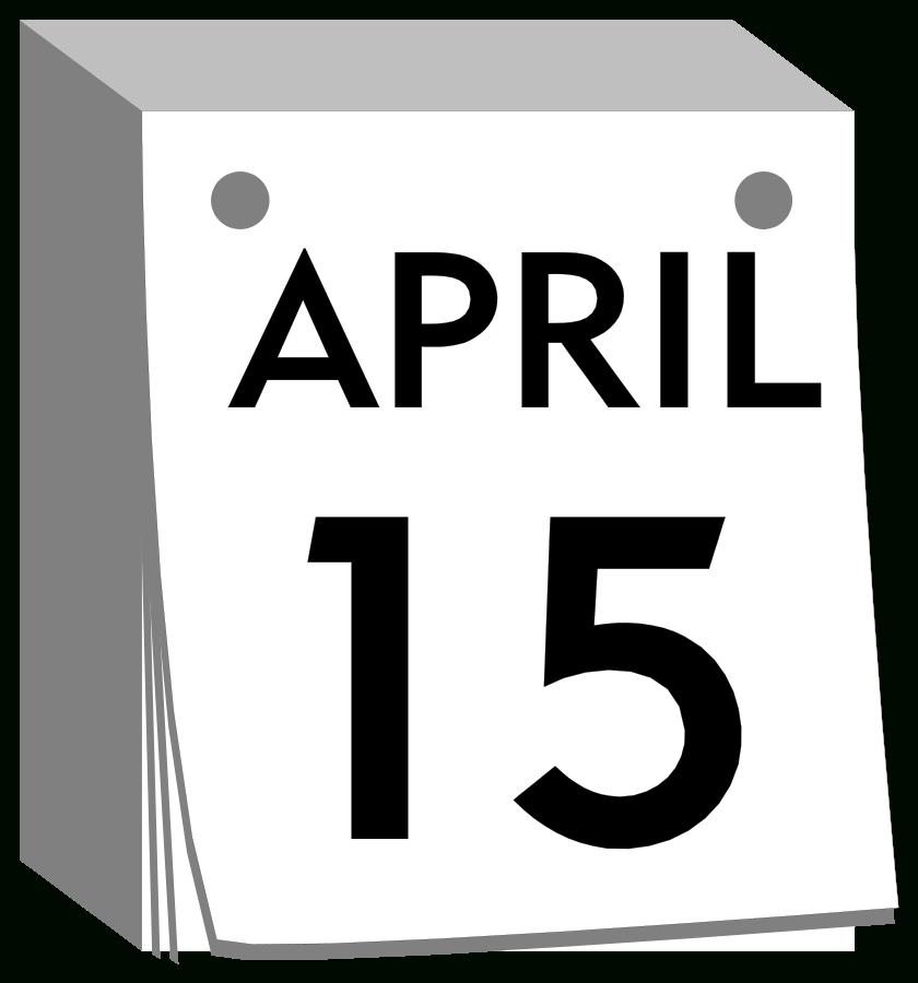 Clipart calendar mark. Cool of your black