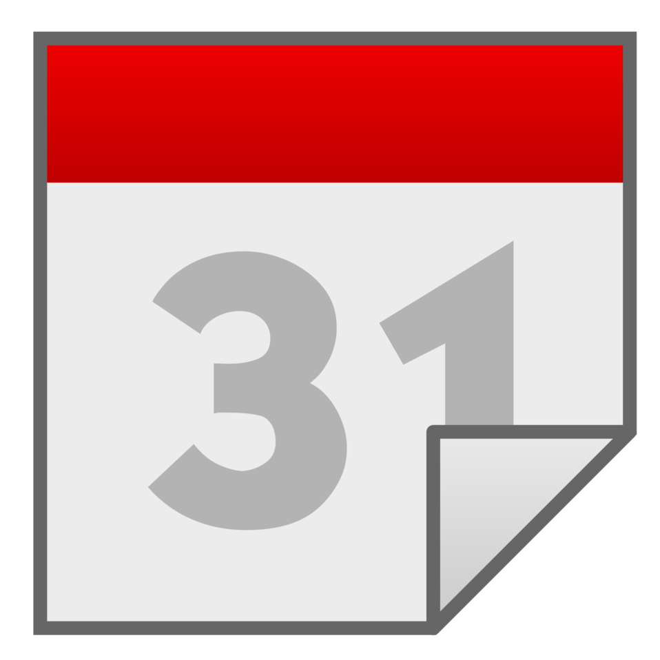 Clipart calendar mark. Public domain clip art