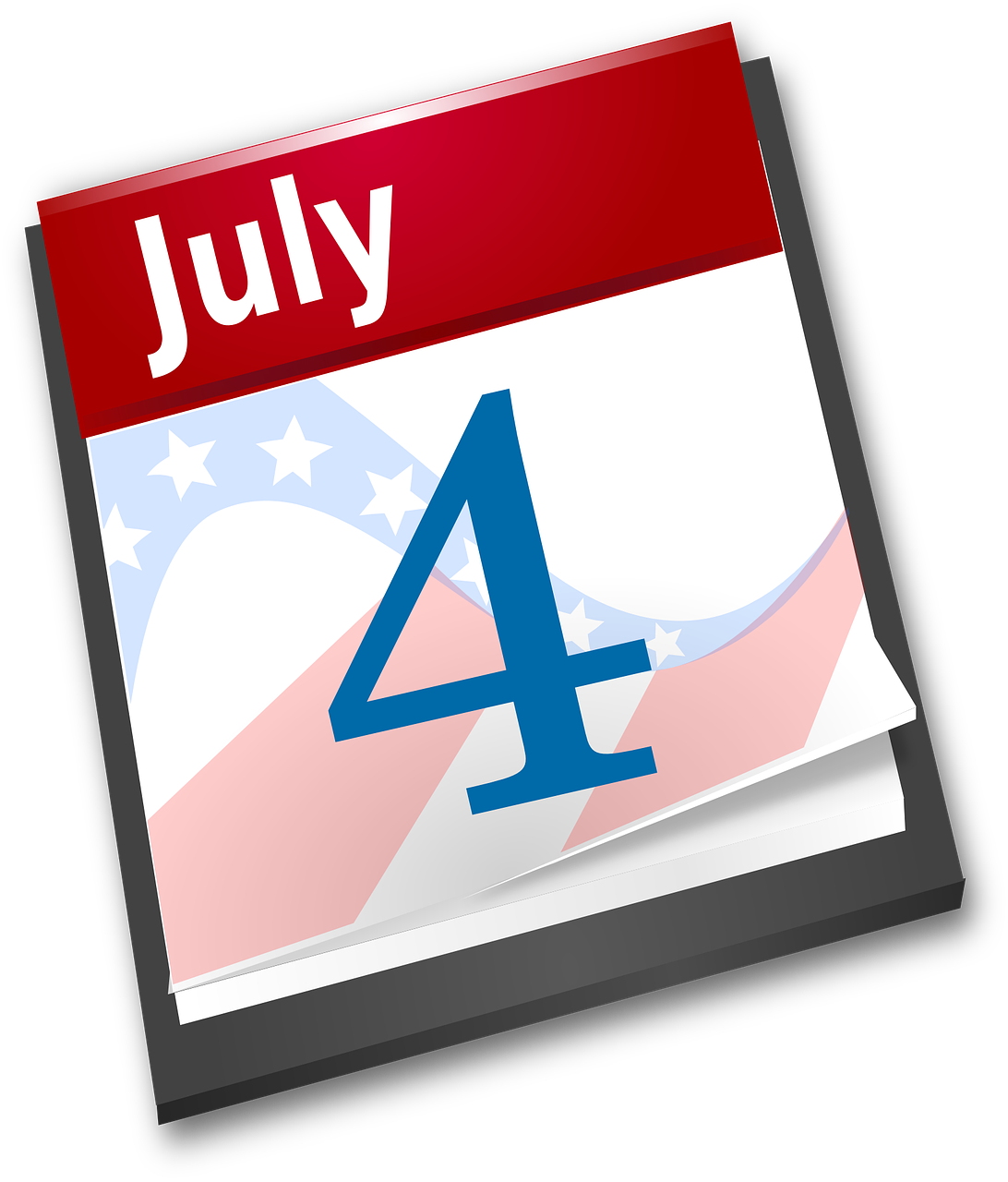Clipart calendar memorial day. Vacation independence usa america