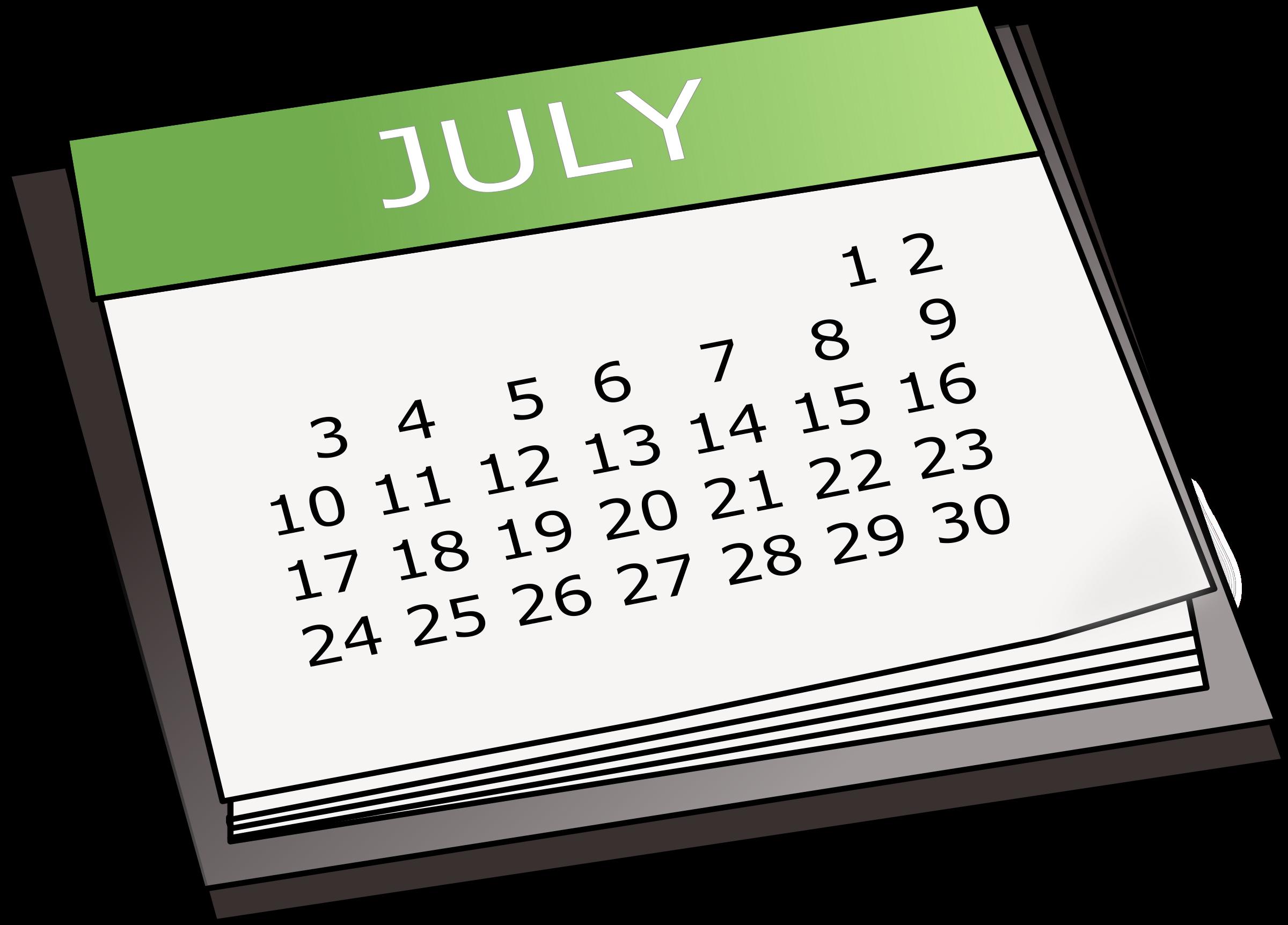 Basic calender big image. Clipart calendar month