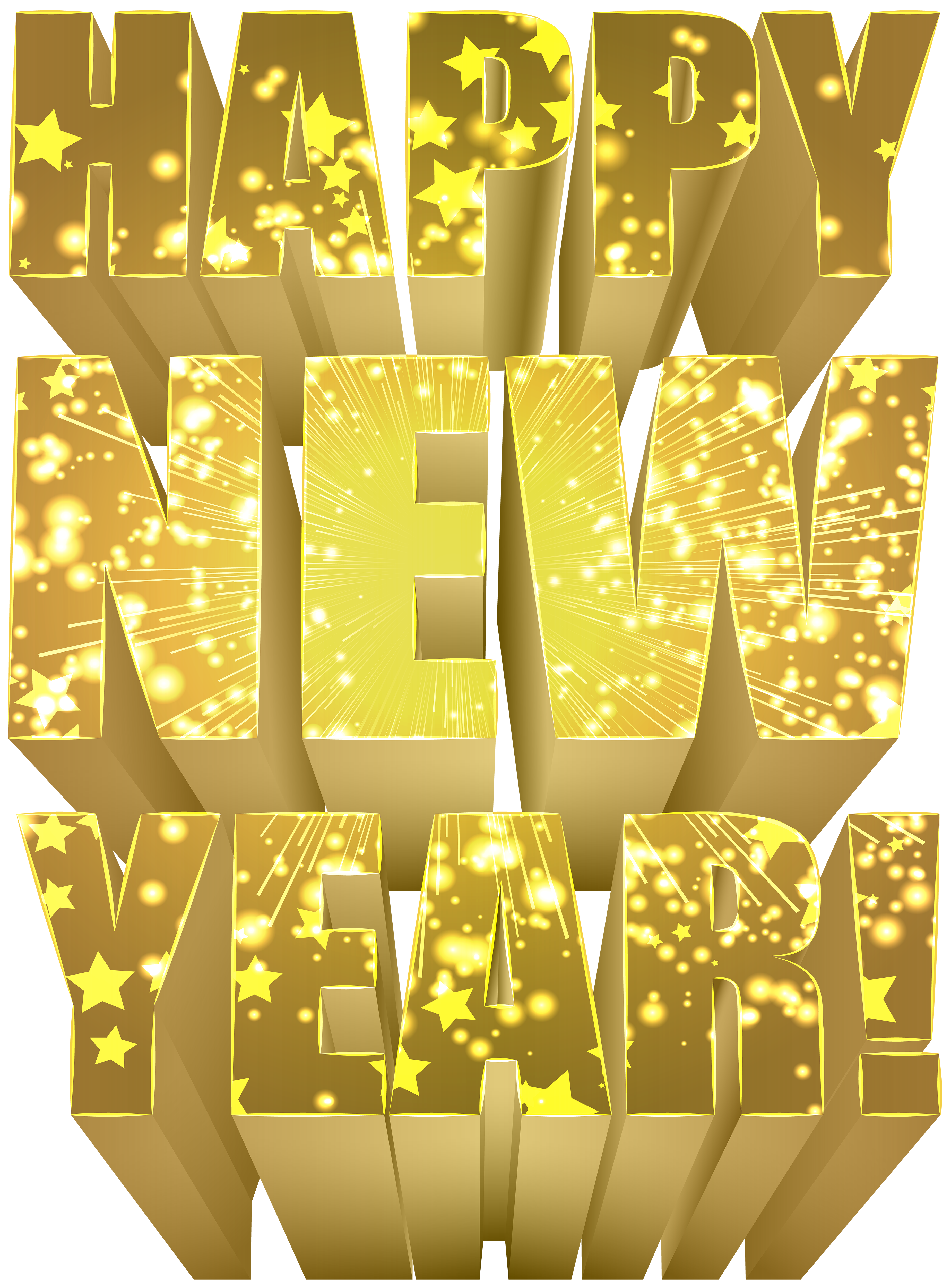 Happy gold png clip. Clipart calendar new year