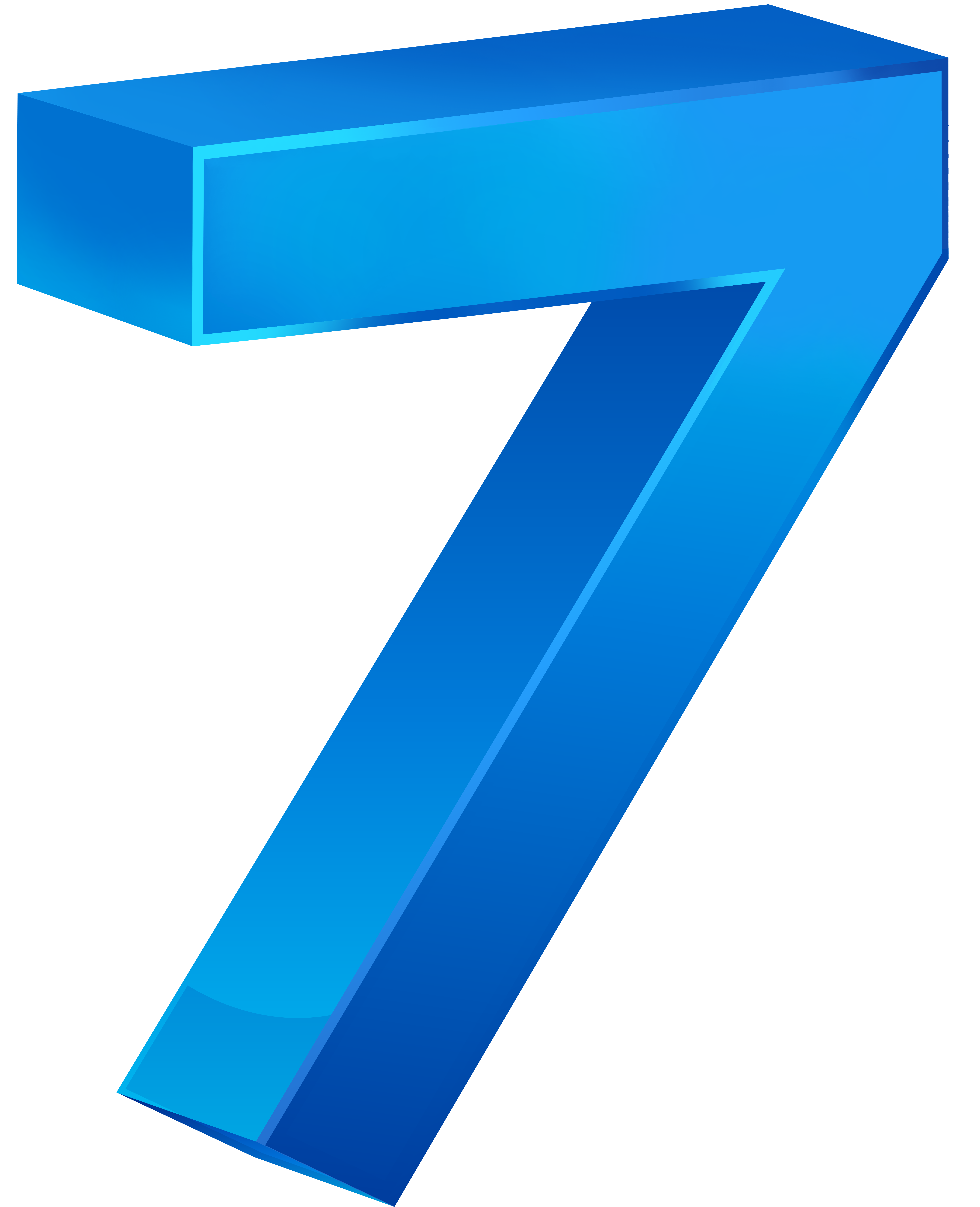Seven blue transparent png. Clipart calendar number