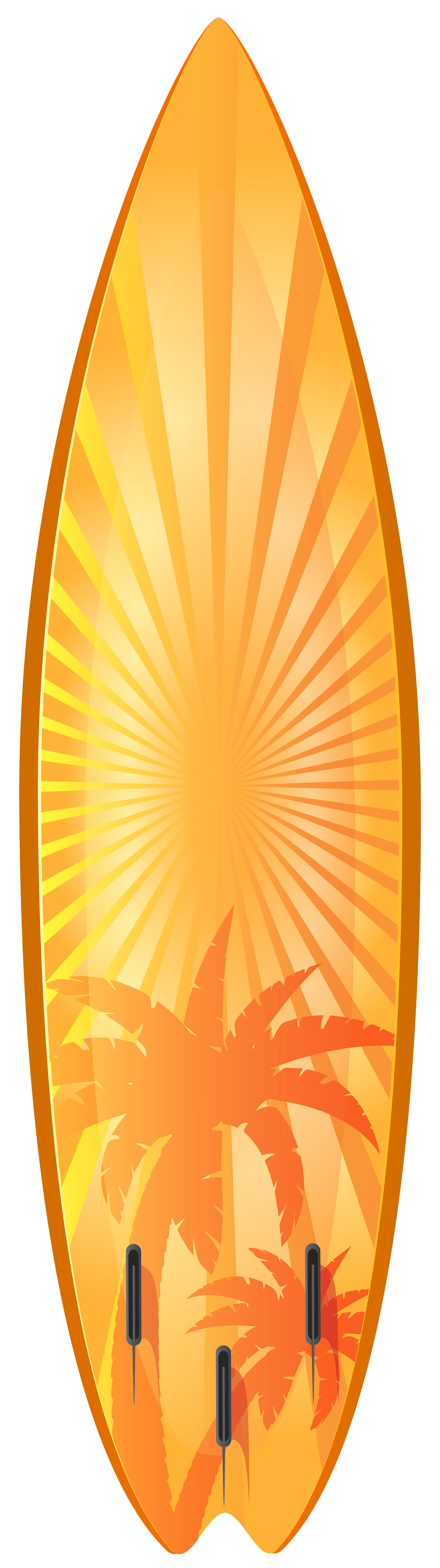 Clipart money orange. Surfboard with palm trees