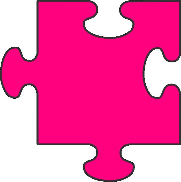Puzzle piece clip art. Clipart calendar pink