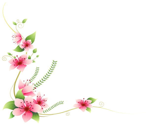 Clipart calendar pink. Flowers decoration png clip