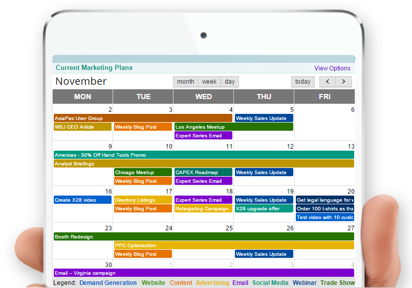 Schedule clipart daily plan. Marketing calendar and planning