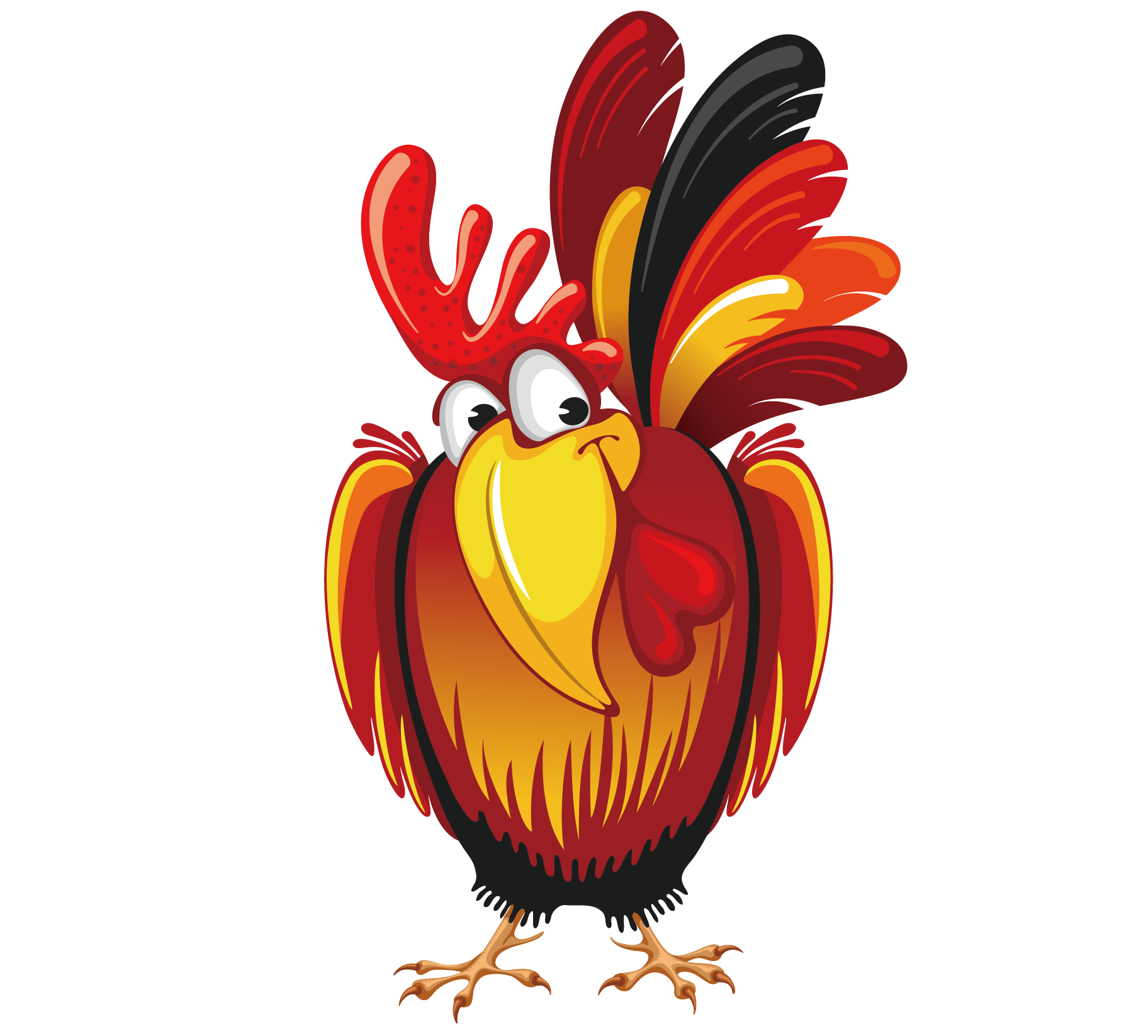 Chinese new year rooster. Clipart calendar public holiday