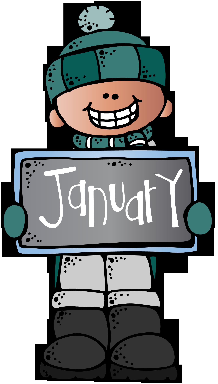Melonheadz classroom calendar clip. January clipart end
