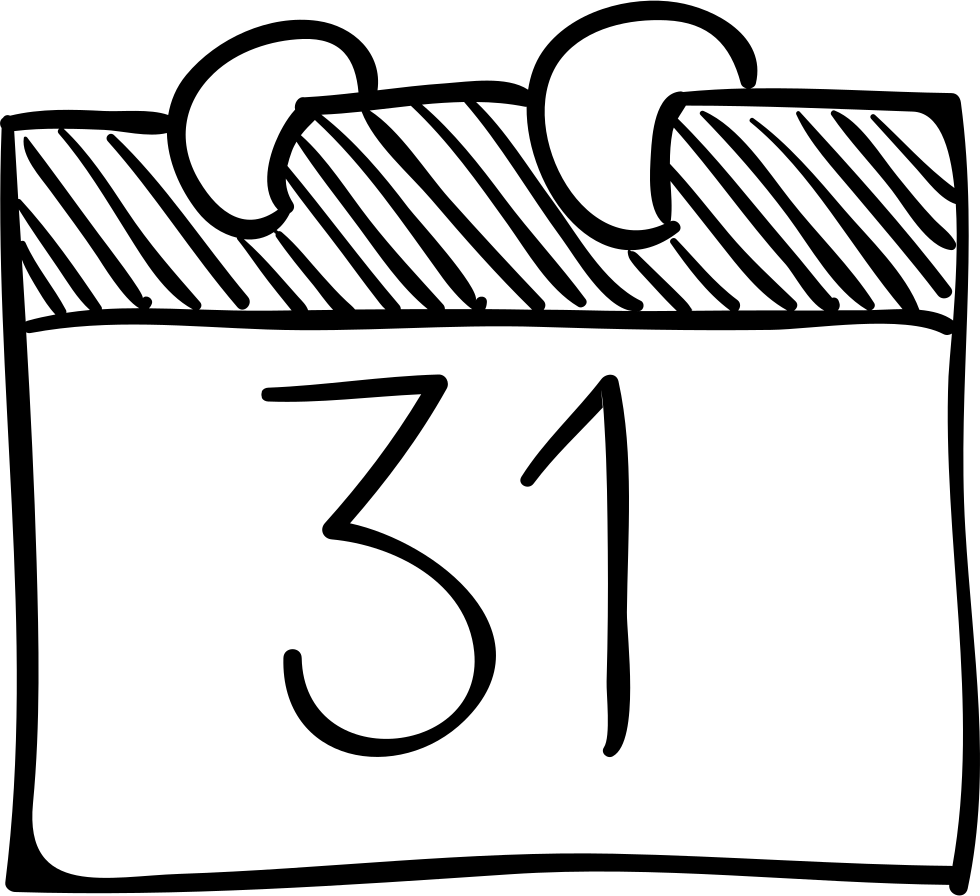 . Clipart calendar sketch