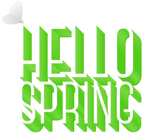 Clipart calendar spring. Hello png clip art