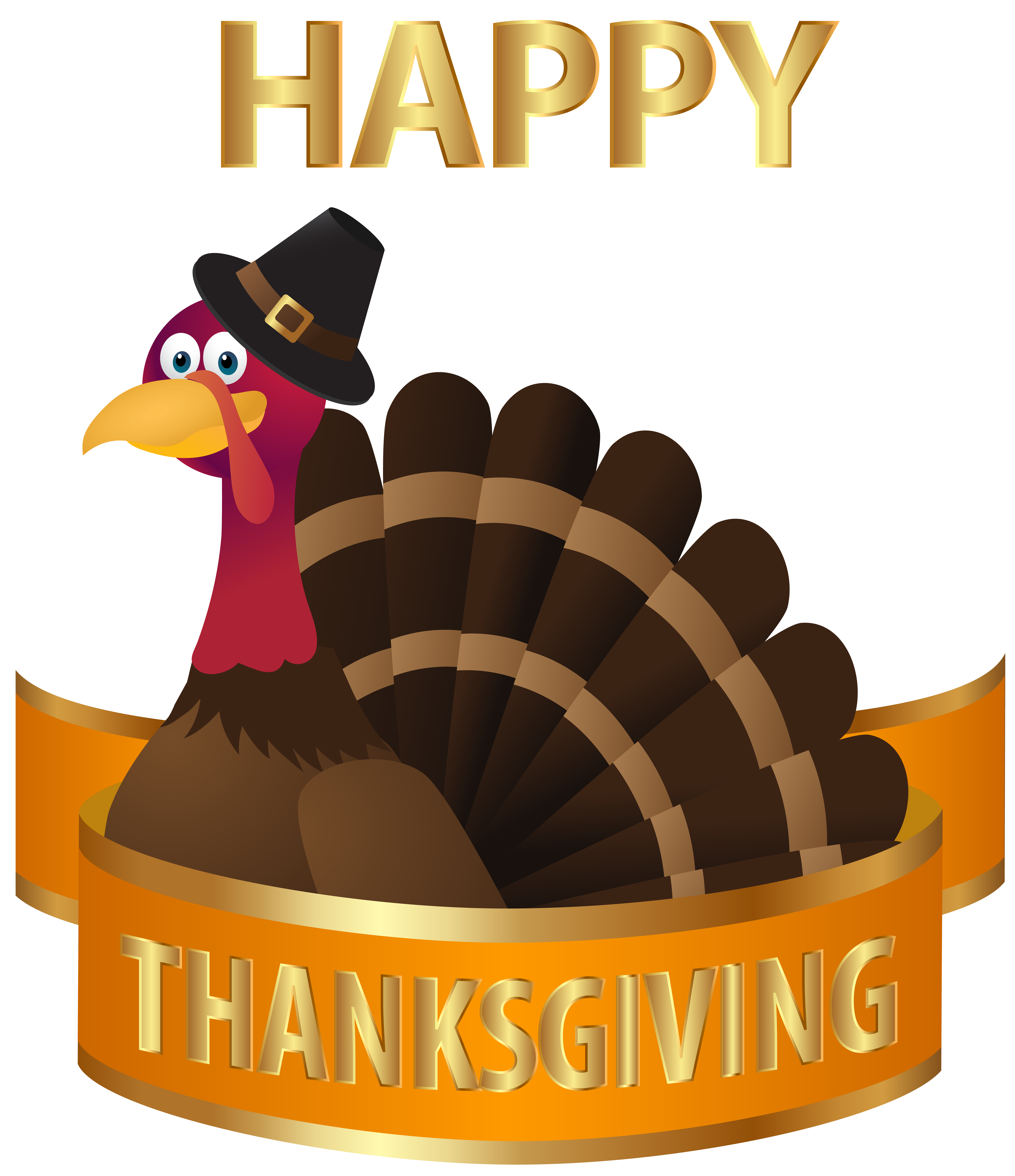 Thanksgiving transparent png image. Clipart turkey happy