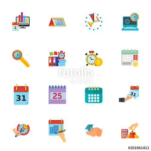 Clipart calendar time frame. Icon set can be